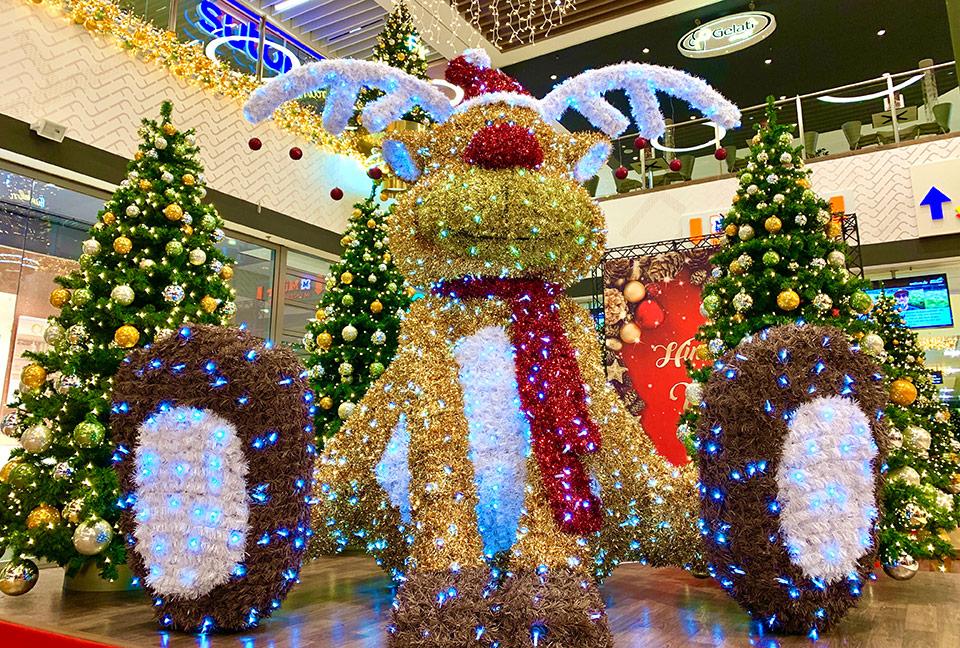 Riesiger LED Rudolph das Rentier - Weihnachtsdekoration
