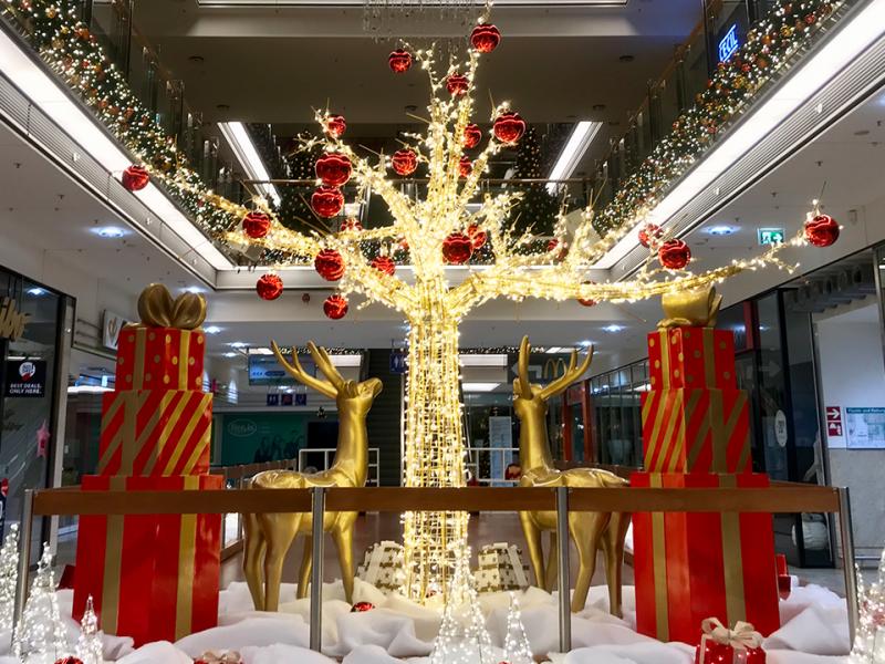 LED-Baum-Gold