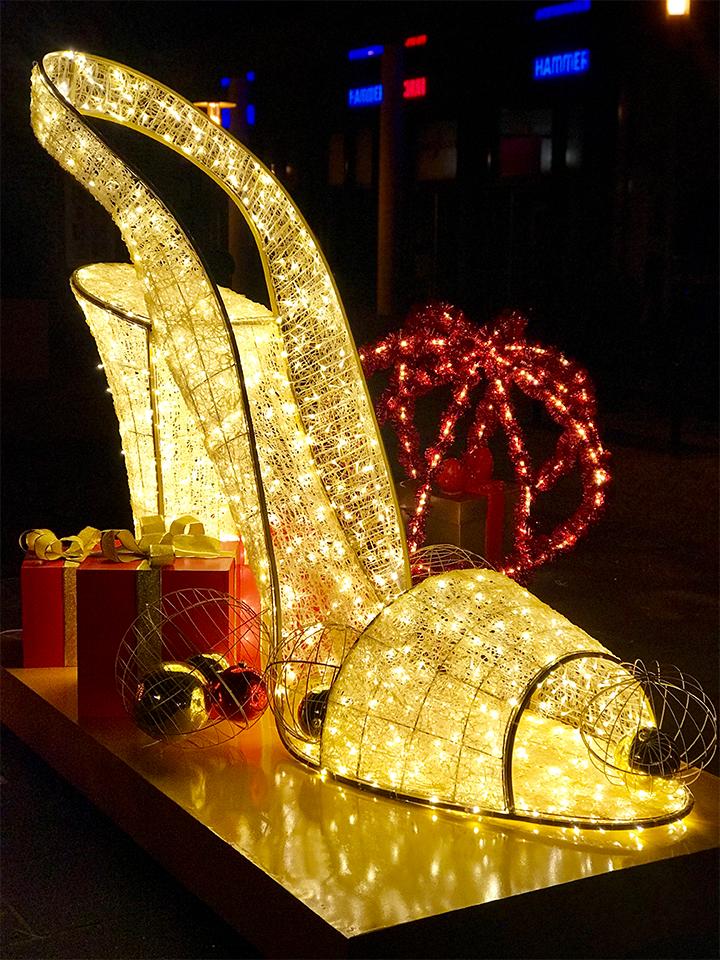 LED Schuh vom Aschenbrödel - Weihnachtsdekoration