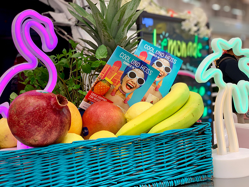 Obstkorb für Sommerdekoration