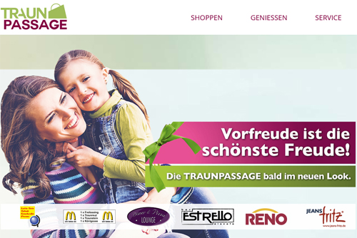 Shoppingcenter Traunpassage Homepage