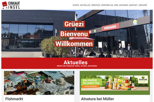 Einkaufinsel Weil am Rhein Homepage