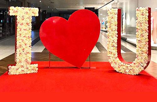 Fotopoint mit I Love You Buchstaben