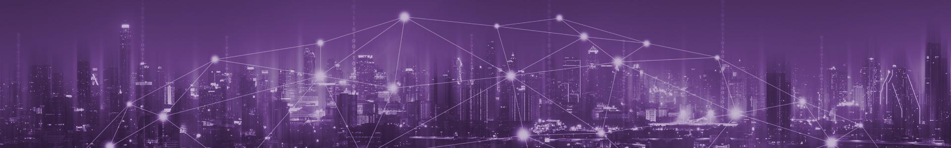 Lichter einer Stadt und Vernetzung